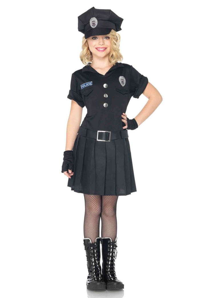 Girl's 3PC.Playtime Police Costume