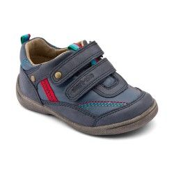 Start-rite Super Soft Leo, Navy Blue Leather Boys Riptape First Walking Shoes Baby Shoes