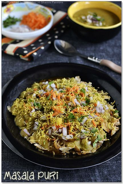 bangalore style masala puri  - staple dinner on Sunday during bygone days