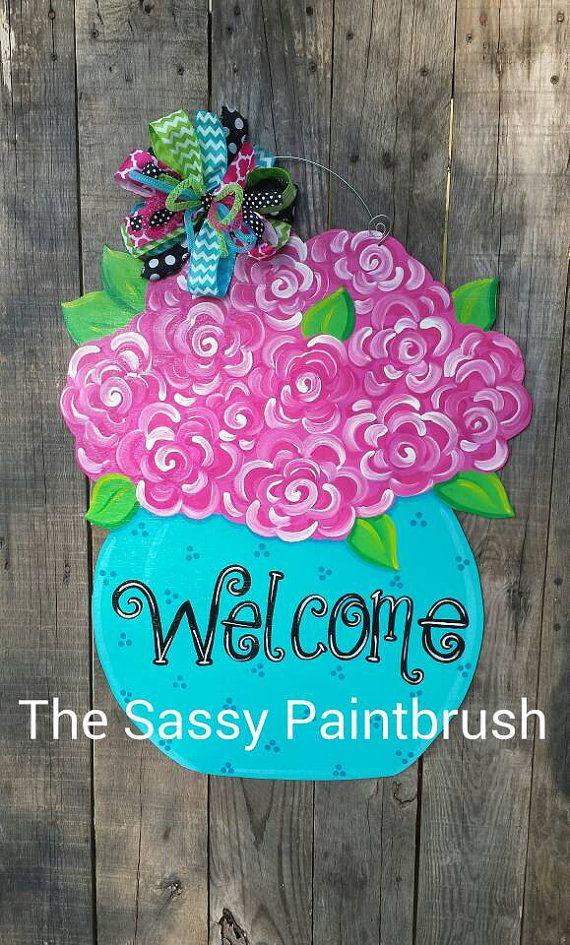 510 best Door Decor images on Pinterest Valentines, Wooden door - healthcare door hanger