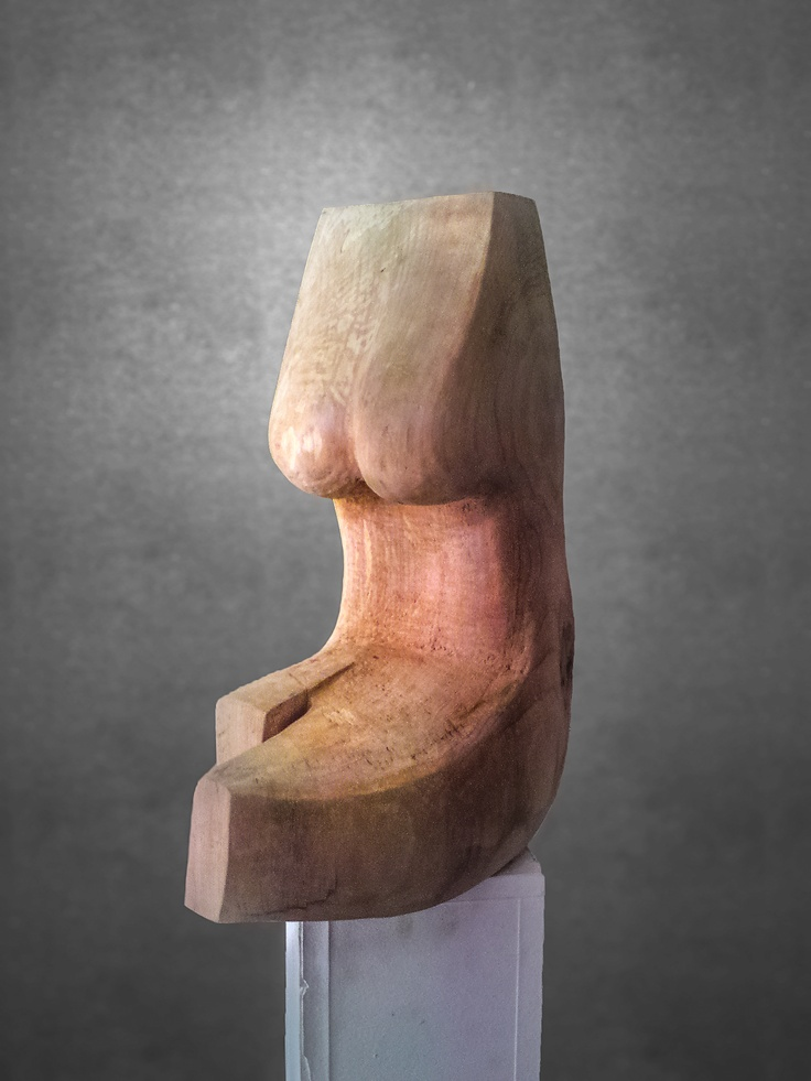 Wood Sculpture, Female torso