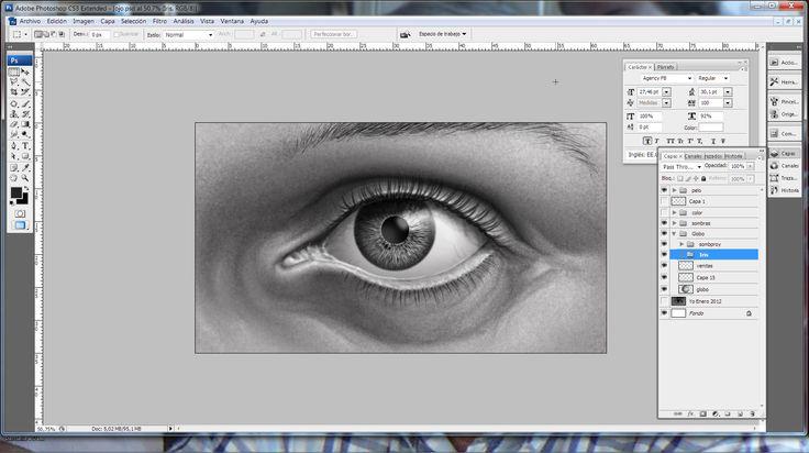 ... en proceso ¡OJO! Ilustración digital. Preparando un tutorial para mi blog. yo.robledoarte.com