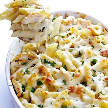 Chicken Alfredo Baked Ziti Recipe - Gimme Some Oven & ZipList