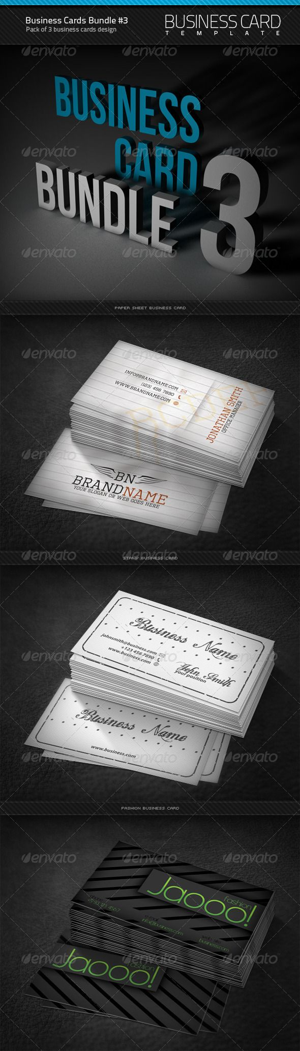 54 best business card designs images on pinterest business card business cards bundle 3 reheart Choice Image