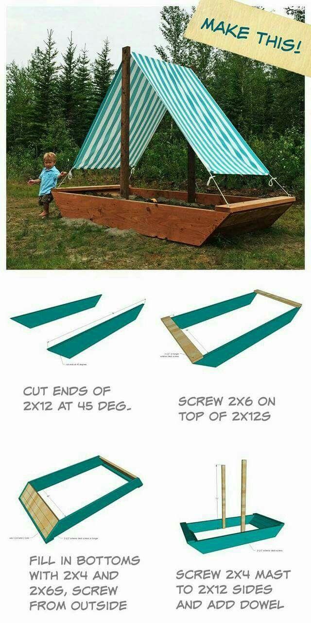 Shady sandbox boat