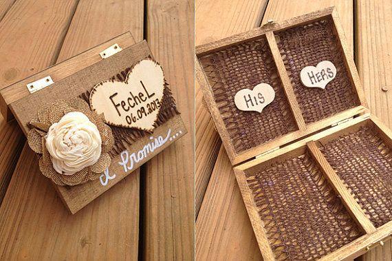 Bague Chic minable porteur boîte  décorations par CountryBarnBabe, $35.00