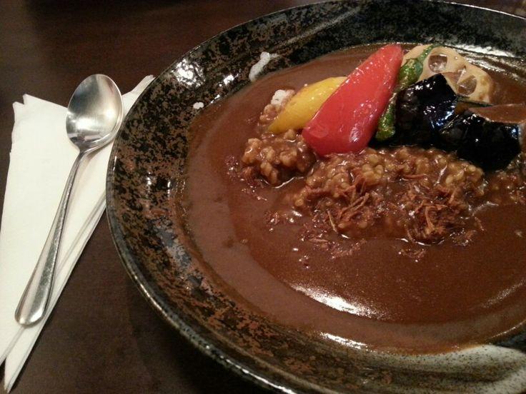 Fresh veggie curry in Kyoto