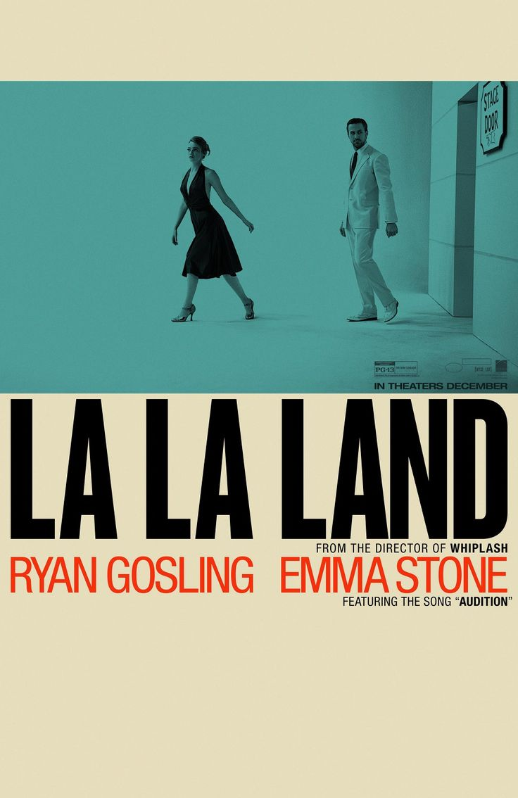 US teaser one sheet for LA LA LAND (Damien Chazelle, USA, 2016) Designer: LA (appropriately enough) Poster source: IMPAwards