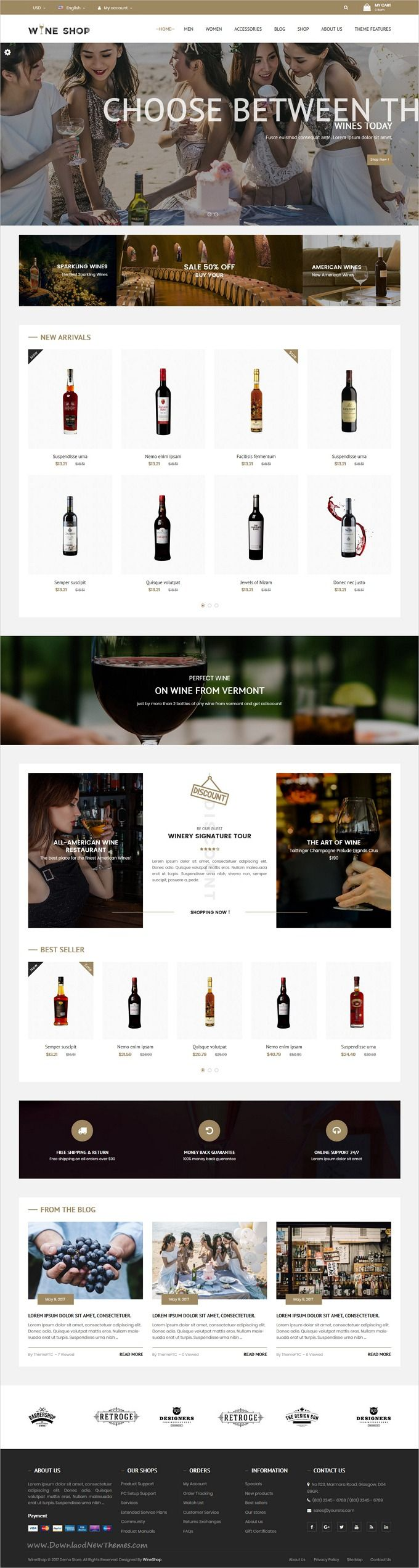 Wine Shop is clean and modern design 4in1 responsive #Prestashop theme for stunning #winery and #liquor shop #eCommerce website download now..