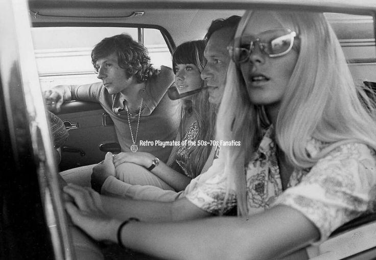 Roman Polanski, Miss Barbi Benton, Hugh Hefner, and Miss  Connie Kreski 👯👯
