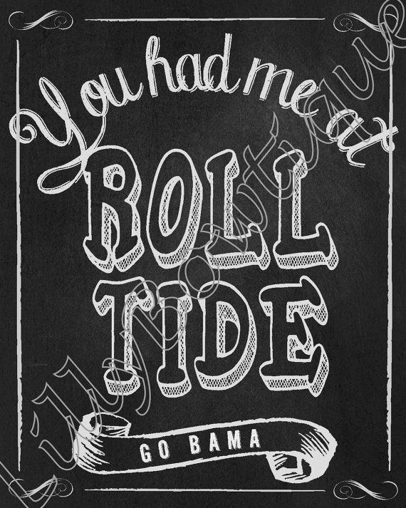 Roll Tide!!!!!    This is a great print for University of Alabama couples who are just starting their journey together or for a couple that has