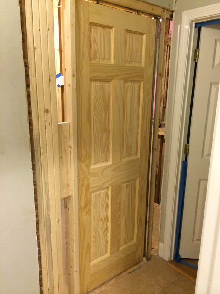 Pocket door installation porterhouse bathroom remodel for Door installation