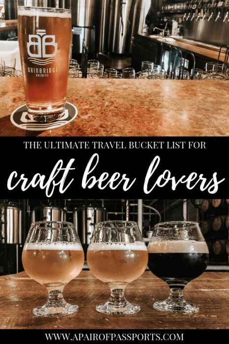 Best Craft Beer Cities Around the World! This is an awesome list of #travel dest…