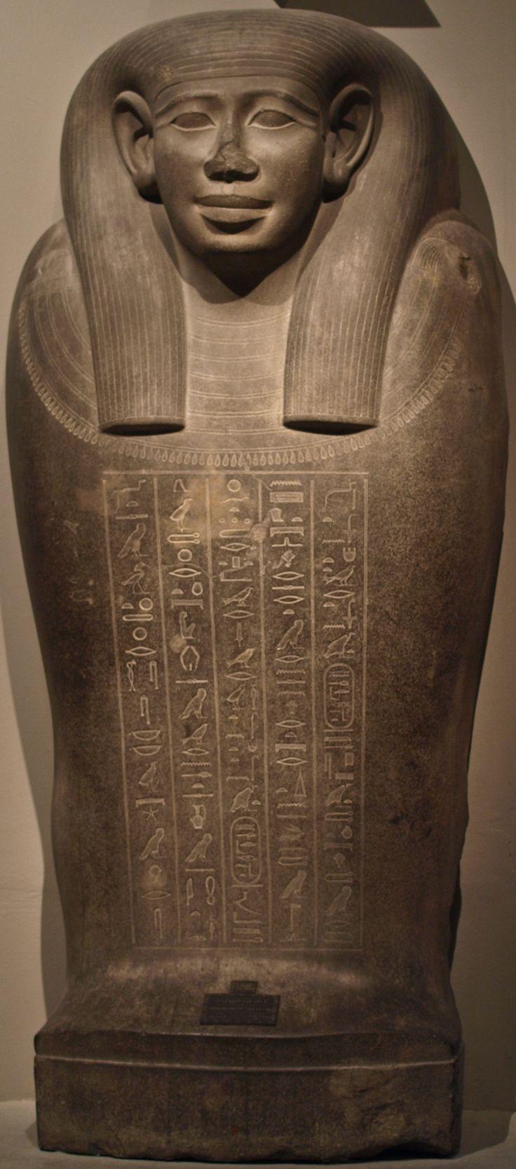 Stone sarcophagus lid of Queen Khedebneithirbinet - XXVI dynasty (Kunsthistorisches Museum, Vienna)