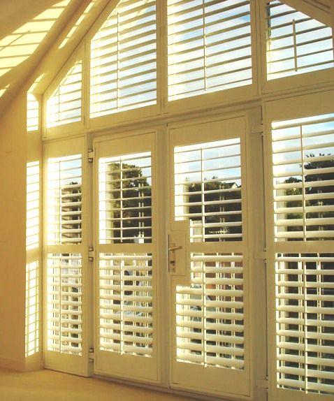 9 best door shutters images on pinterest indoor shutters for Alternative to plantation shutters