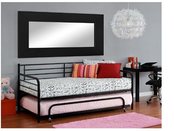 trundle bed frame daybed kids beds for teens dhp metal separate trundel separate