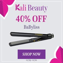Save 40% on All BaByliss Curling Irons & Stylers at Kali Beauty! Shop Over 50 BaByliss PRO Flat Irons at Kali Beauty! FREE SHIPPING ON ORDERS OVER $25 #BaByliss #sty#blackfriday2017 #blackfriday #blackfridaysale #styler  #curling #curls #blowdryer #flatiron #freeshipping