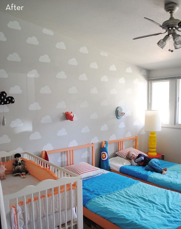 Before and After: A Playful, Pattern-filled Kids' Room Makeover » Curbly | DIY Design Community