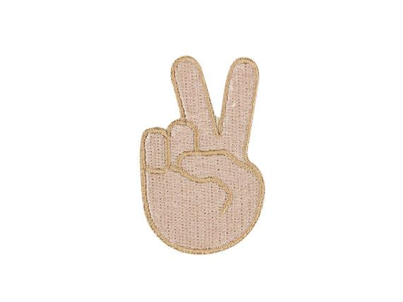 Love, peace and chicken grease - its the peace sign emoji patch! This cute emoji patch is the perfect addition to your backpack, jeans or hat. Add fun to your clothes, just like you do with your texts! Dont see the emoji you were hoping for? Message me with your favorite and Ill stitch it right up. Im adding new stuff, so visit WinksForDays often. This patch is 1.5 x 1.5 inches. Other sizes are available.  Each adorable patch has heat-n-seal on the back making it easy to iron on to your…