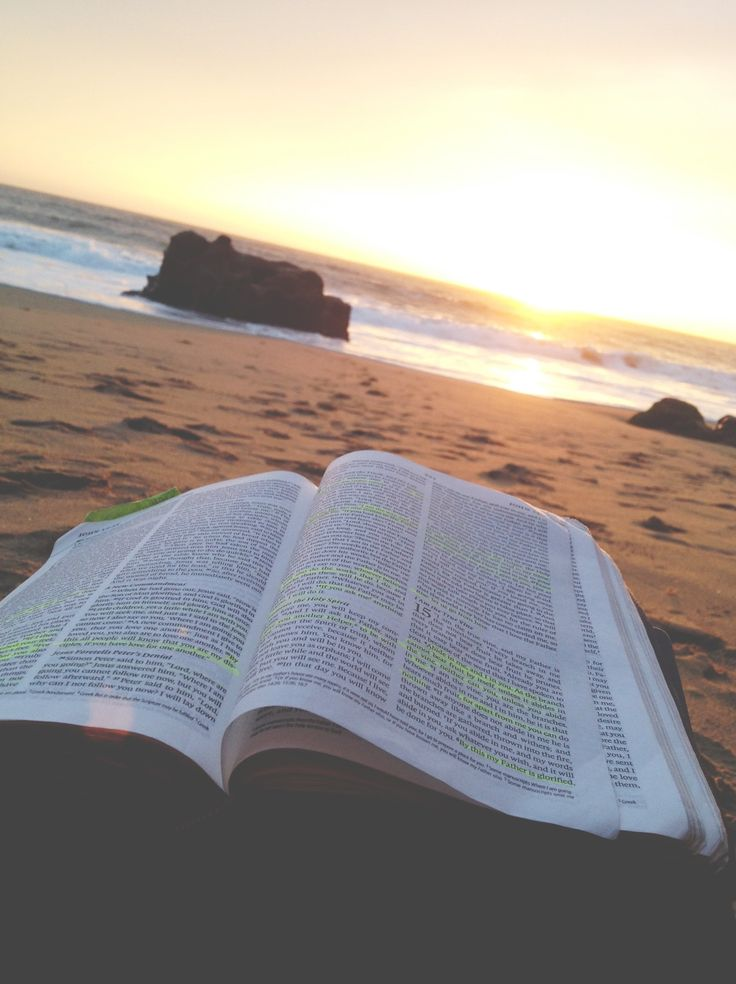 This would be my perfect day. Spending it at the beach with my Bible. My serenity!!!