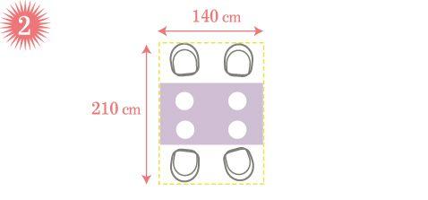 Stół dla 2, 3, 4 ... osób - ile miejsca potrzebuje? - domplusdom.pl