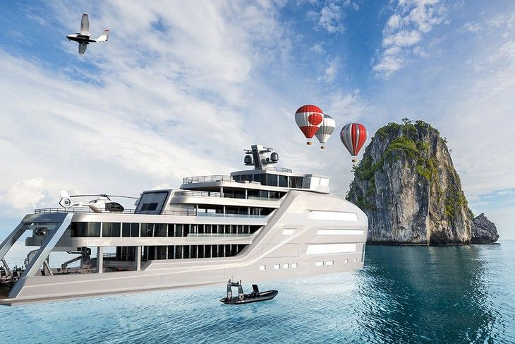Taboo, le concept de yacht d'exploration polaire au luxe ostentatoire
