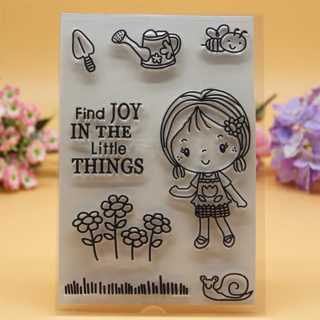 Enjoy the quality of wholesale- clear stamp clear scrapbook diy photo cards account rubber stamp transparent stamp garden tool bee flower girl find joy 11x16cm in huayama 's shop. qualified and memorable rubber stamps custom, postage stamps online and buy postage stamps online with a large variety of choices can be found here.