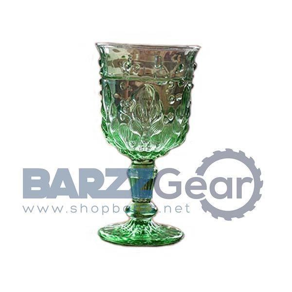 Delicate Crystal Glass Mediterranean Embossed Beverage Goblet, 1Pc