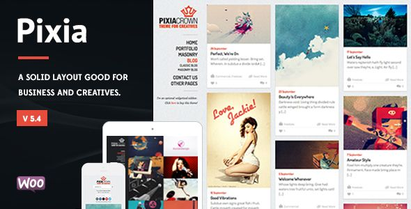Pixia Showcase WordPress Theme