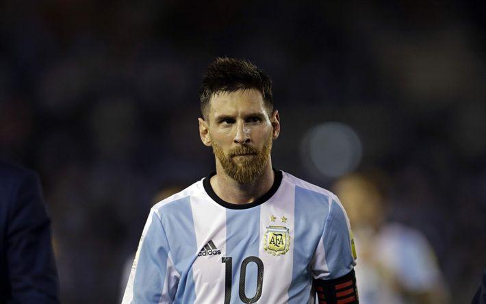 Descargar fondos de pantalla Lionel Messi, jugador de fútbol Argentino, Argentina, el fútbol, el FC Barcelona