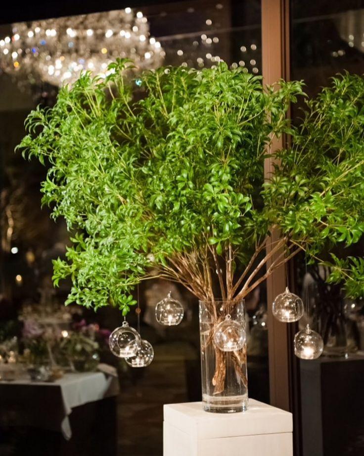 wedding report 24 #ウィッシュツリー  #ガラス玉 これ絶対にやりたくて用意してもらいました ゆらゆら灯がきれいで…