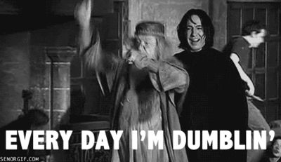 Haha behind the scenes dumbledore