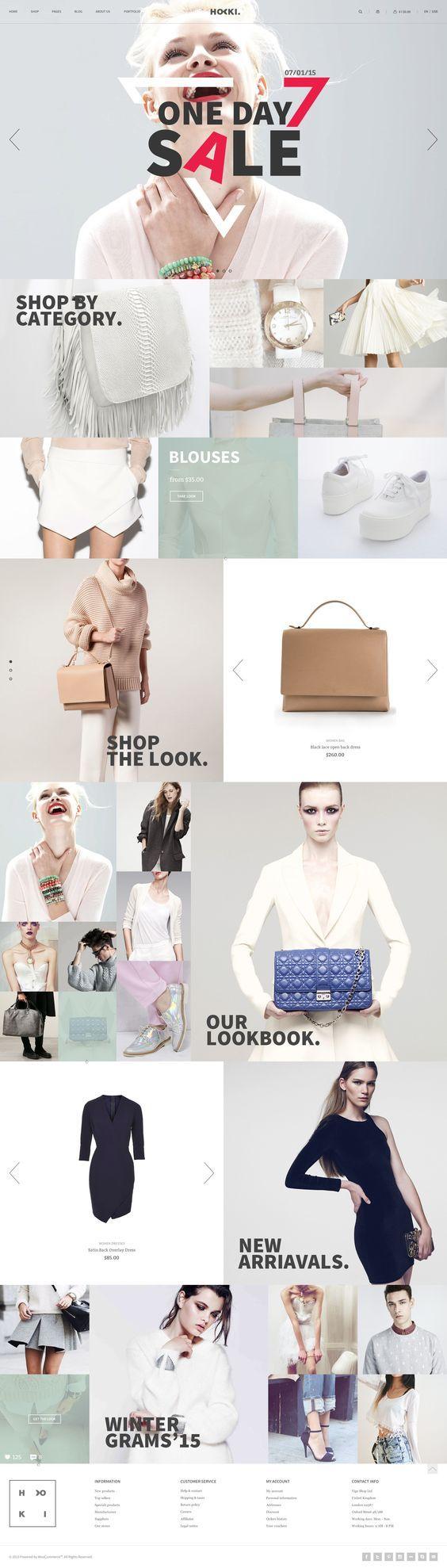 Hoki – eCommerce Template on Inspirationde: