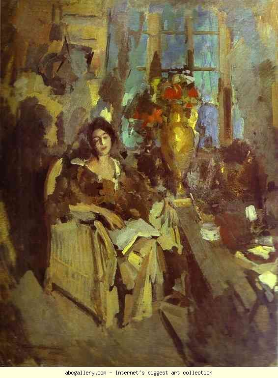 Constantin Korovin. Portrait of a Woman. Olga's Gallery.