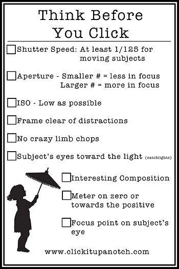 DSLR basics from the site (via Clickitupanotch)