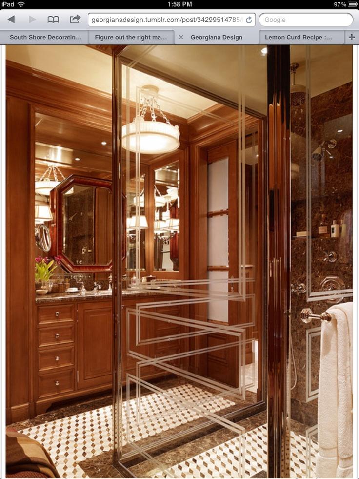 men bathroom tumblr%0A His bathroom   Love the shower glass