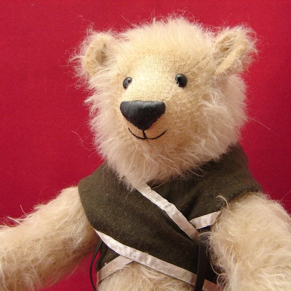 Old Fashion Teddy Bear NorthAck, Russian Teddy Bear Cossack, ooak Teddy Bear, Schulte mohair Teddy Bear, millitary Teddy Bear, video