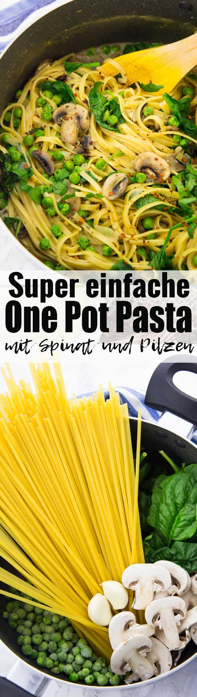 Diese One Pot Pasta mit Spinat und Pilzen ist nicht nur super cremig, sondern auch total einfach zuzubereiten. Einfache Rezepte sind manchmal einfach die besten! Und Nudel Rezepte sowieso! Mehr vegane Rezepte findet ihr auf veganheaven.de