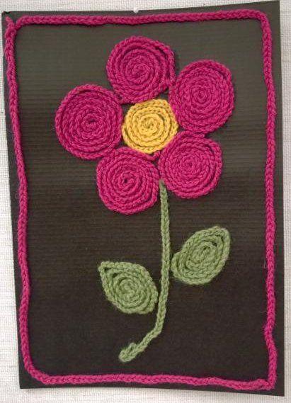 virkattu kukka crochet flower