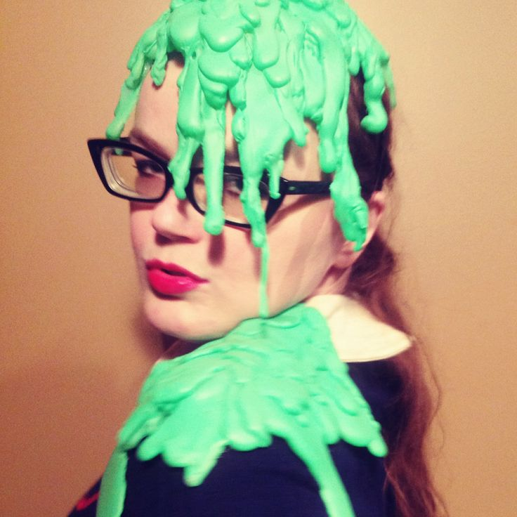 slime costume by Carrie Gates slime slimepunk