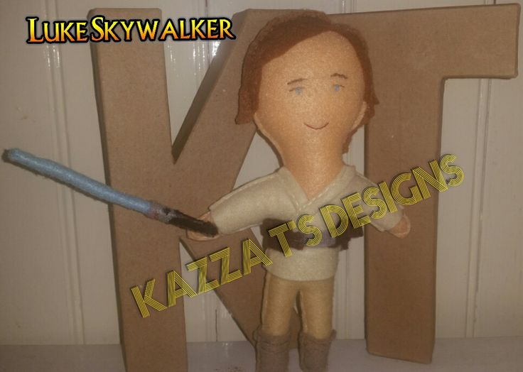 Luke Skywalker Handmade felt plush doll 😆 👍 #kazzatsdesigns #feltplushdolls #beingcreative #favecharacters #starwars #Lukeskywalker