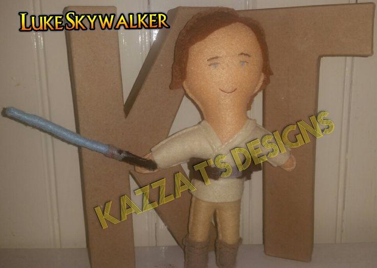 Luke Skywalker Handmade felt plush doll 😆 👍 #kazzatsdesigns #feltplushdolls #beingcreative #favecharacters #starwars #Lukeskywalker