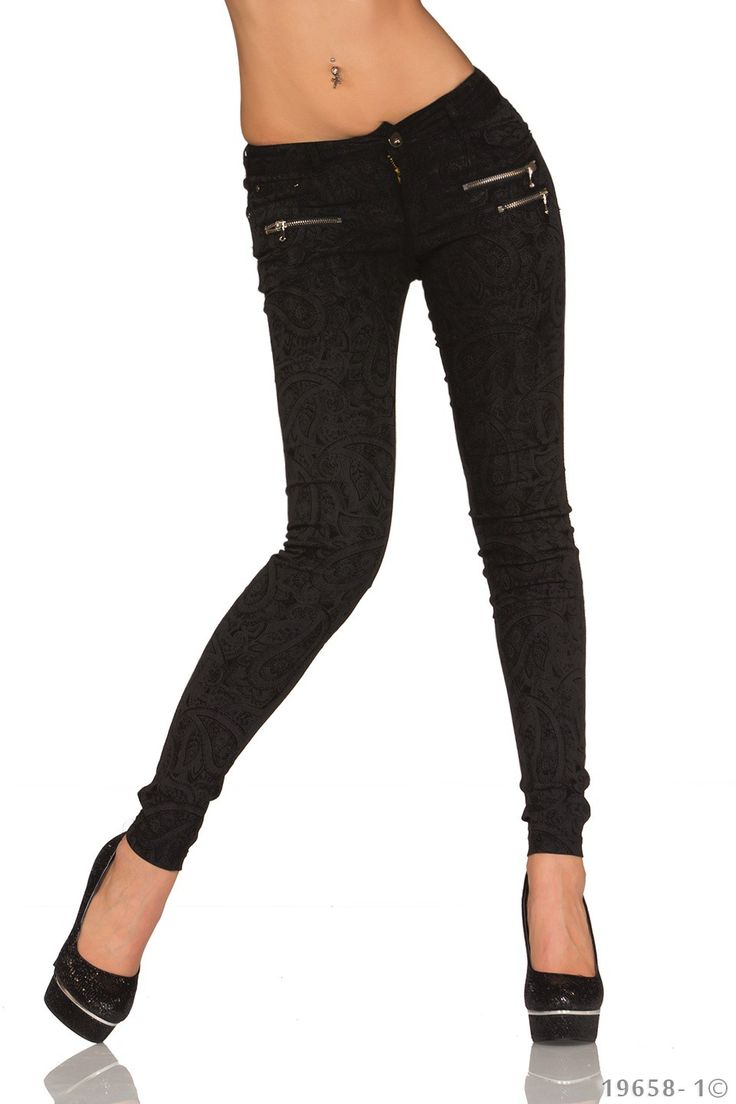 Pantaloni Skinny Black | New Fashion Romania  >> Click pe poza pentru a vedea pretul. #PantaloniDama