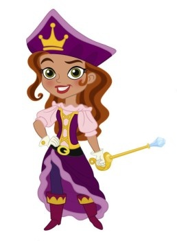 Inspiration for Elle's Pirate Princess costume