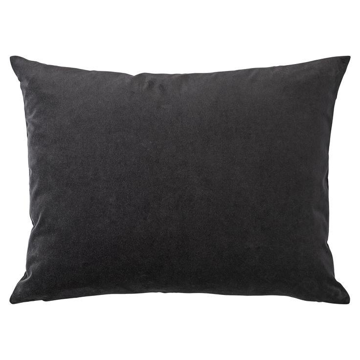 Mundus Velvet Cushion Black, H 55 cm | W 68 cm