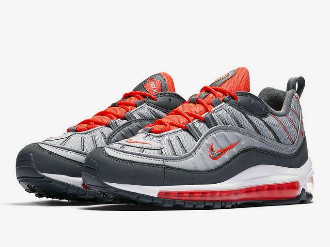 40ebca1b445 Nike Air Max 98 Total Crimson Wolf Grey 640744-006 Shoe
