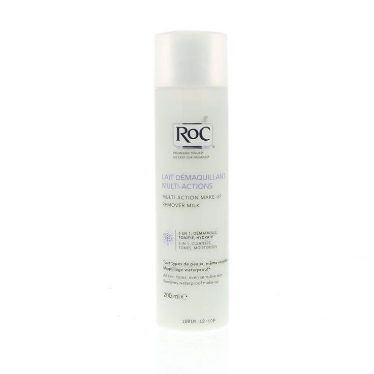 RoC Reiniging Multi-Action Make-Up Remover Milk 3in1 Melk Alle Huidtypen 200ml  Description: RoC Lait Démaquillant Multi-Actions - Reinigingsmelk 3 in 1. Onze huid ondergaat elke dag de invloed van een externe omgeving wat tot huidproblemen kan leiden. Het reinigen is de eerste handeling die onzuiverheden make-up-resten en dode huidcellen verwijdert zodat de huid gezond en stralend blijft. Een goede reiniging van de huid zorgt ook voor een optimale werking van je verzorgingsproducten. Deze…