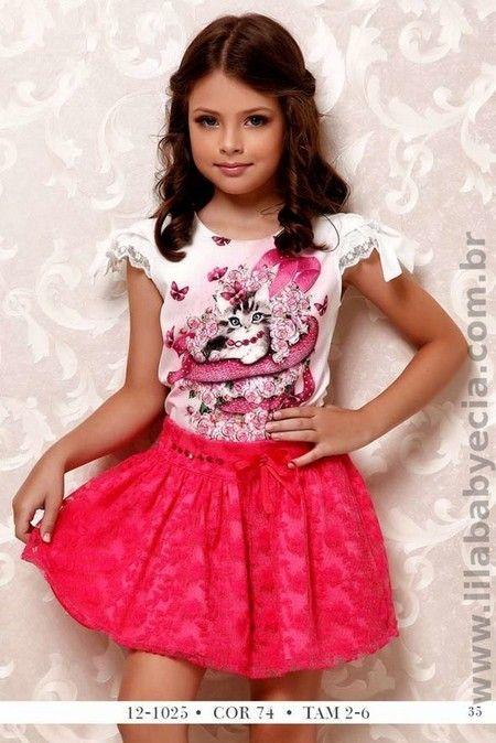 BLUSA Infantil e SAIA Diforini Moda Infanto Juvenil 121025 #diforini #modainfantil #princesas #moda
