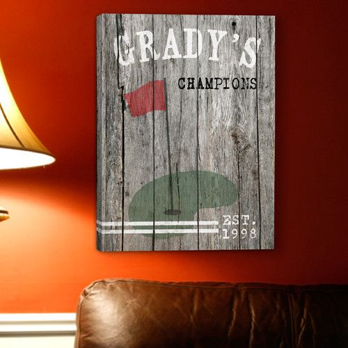 Personalized Golf Man Cave Canvas