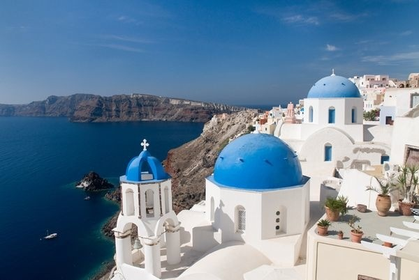 Mediterranean Greece Oia Buildings